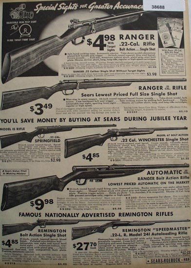 Sears Ranger and Remington Rifles 1936 Ad