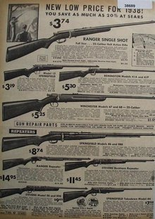 Sears Low Price Rifles 1938 Ad