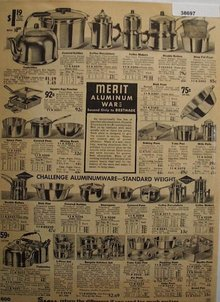 Sears Merit And Challenge Aluminum Ware 1935 Ad