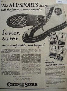 Grip Sure Sport Shoe 1925 Ad