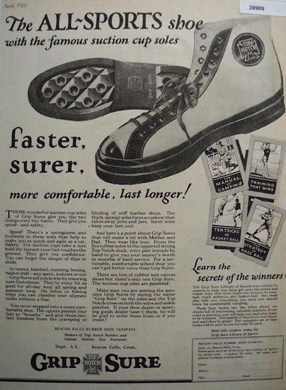Grip Sure Sport Shoe 1925 Ad