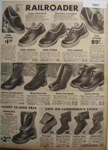 Sears Railroader Rubber Shoe top Boots 1936 Ad