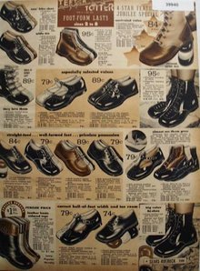 Sears Babies And Tots Shoes 1936 Ad