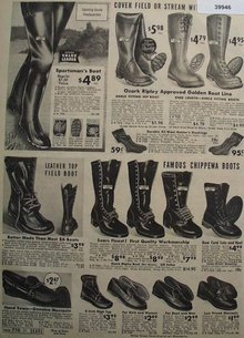 Sears Boots and Moccasins 1938 Ad