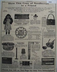 Needlecraft Subscription Prizes 1923 Ad