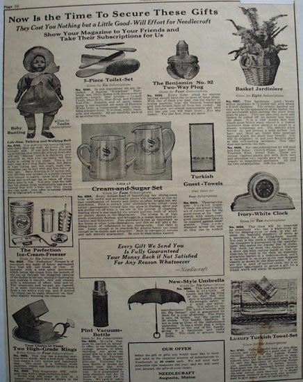 Needlecraft Subscription Prizes 1923 Ad