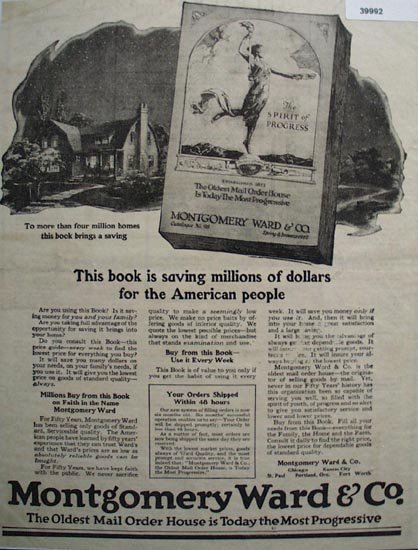 Shop By Mail Montgomery Ward 1923 Ad