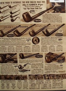 Sears Shop By Mail Tobacco And Pipes 1938 Ad
