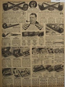 Sears Smoking Supplies 1938 Ad