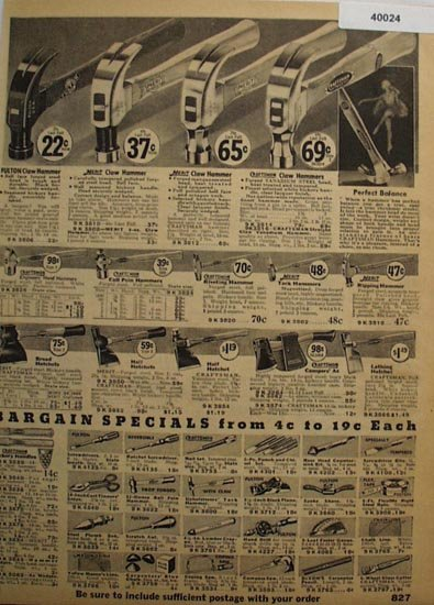 Sears Hammers Hatchets And Tools 1936 Ad