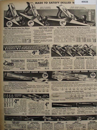 Sears Planes And Chisels 1936 Ad