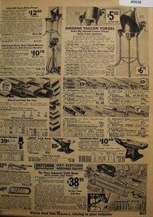 Sears Blacksmith Tools 1936 Ad.