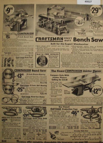 Sears Woodworker Tools 1936 Ad