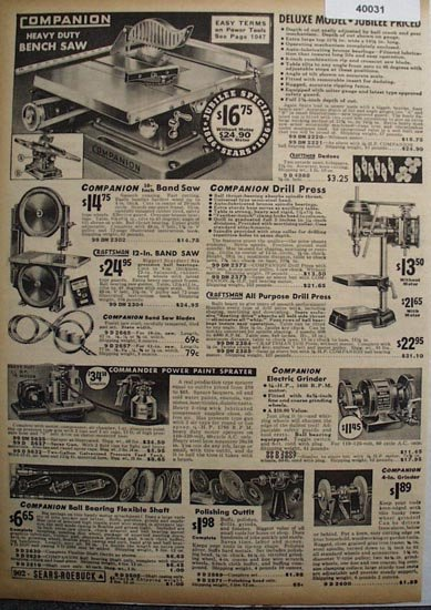 Sears Power Tools 1936 Ad