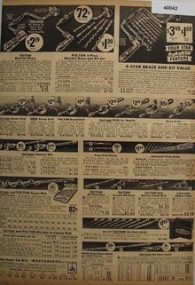 Sears Braces, Bits And Drills 1938 Ad