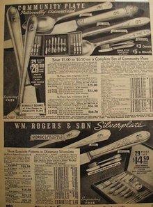 Sears Silverware 1935 Ad