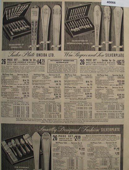 Sears Fashions, Oneida Ltd. And Wm. Rogers 1938 Ad