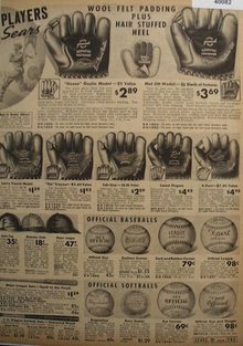 Sears Baseball Gloves And Balls 1938 Ad