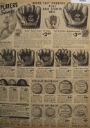 Sears Baseball Gloves And Balls 1938 Ad