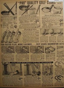 Sears Golf, Badminton and Croquet Sets 1938 Ad.