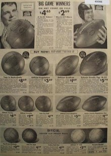 Sears Football, Basketball, Volley and Soccer Balls 1938 Ad