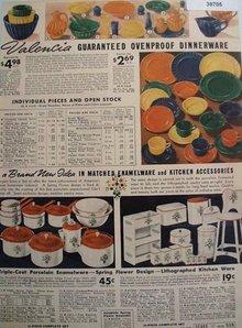 Sears Valencia Ovenproof Dinnerware 1938 Ad