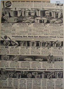 Sears Bestmade Cast Aluminum Pots And Pans 1936 Ad
