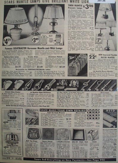 Sears Lightmaster Lamps 1938 Ad
