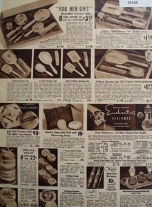 Sears Hair Sets and Perfumes 1938 Ad