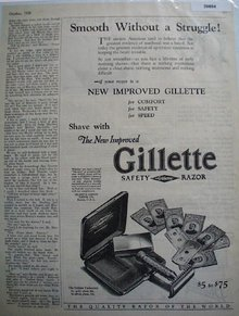 Gillette Safety Razor 1926 Ad