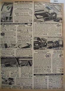 Sears Kwick Feed Duplicators and Supplies 1938 Ad