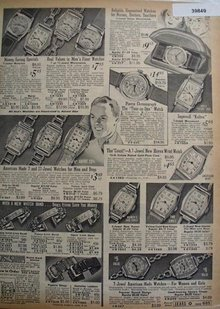 Sears Mens And Womens Watches 1938 Ad