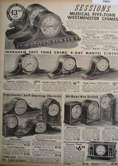 Sears Sessions And Ingrahams Clocks 1936 Ad