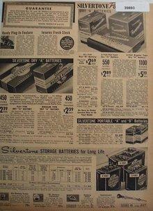 Sears Silvertone Radio Batteries 1938 Ad