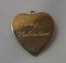Gold Tone Valentine Heart Pendant