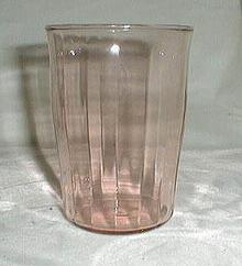 Depression Juice Glass in Pink