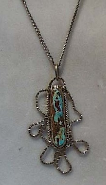 Handmade Sterling & Turquoise Necklace