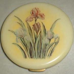 Fifth Avenue Compact UNUSUAL size with Iris Flower