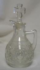 Wonderful pressed glass cruet set, OLD