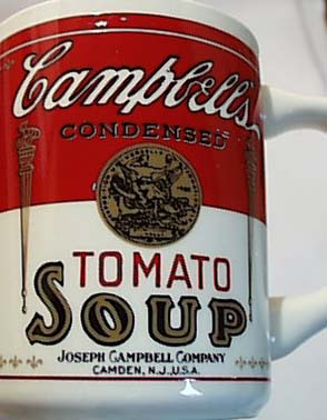 Campbells Tomato Soup Mugs 1950 Era
