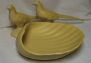 Haeger matt yellow Pheasants & Shell (3)