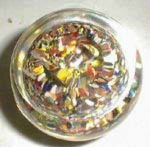 Paperweight, cane has 84 on inside yellow ring of flow
