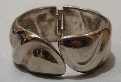 Silver Tone Hinged Bracelet