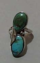 Double Turquoise & Sterling Ring