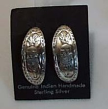 Indian Handmade Sterling Silver Earrings