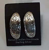 Indian Handmade Sterling Silver Earrings