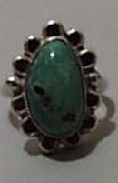 Turquoise & Sterling Small Oval Ring