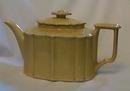 Oriental Porcelain yellow teapot, neat shape.