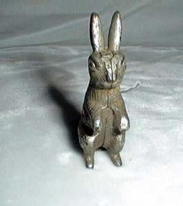Peter rabbit ? old lead bunny