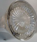 Tall Fluted Crystal Vase Late 1800's - 1900's
